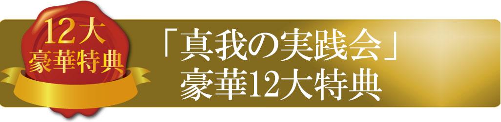 「真我の実践会」豪華12大特典