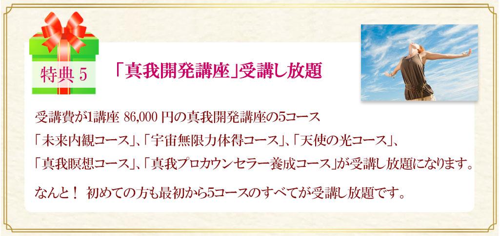 「佐藤康行 真我の実践会」豪華特典5